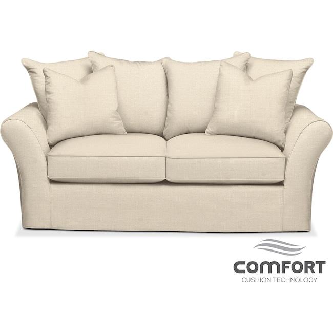 Living Room Furniture - Allison Comfort Apartment Sofa - Cream