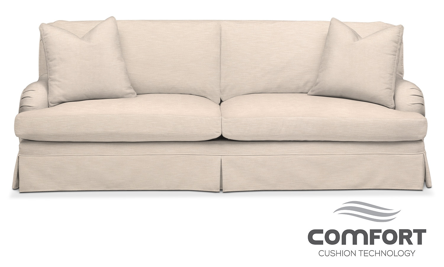 Living Room Furniture - Campbell Comfort Sofa - Buff