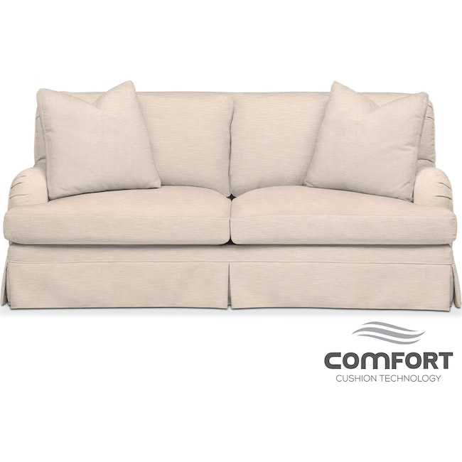 Living Room Furniture - Campbell Comfort Apartment Sofa - Dudley Buff