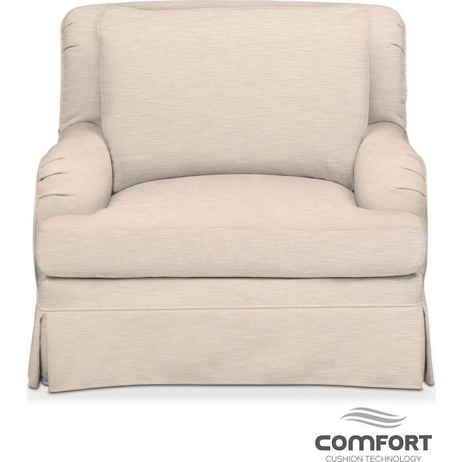 Living Room Furniture - Campbell Comfort Chair - Dudley Buff