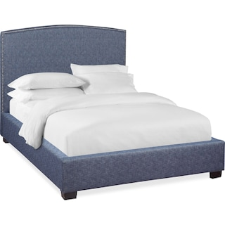 Sonia King Upholstered Bed - Indigo