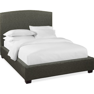 Sonia King Upholstered Bed - Onyx
