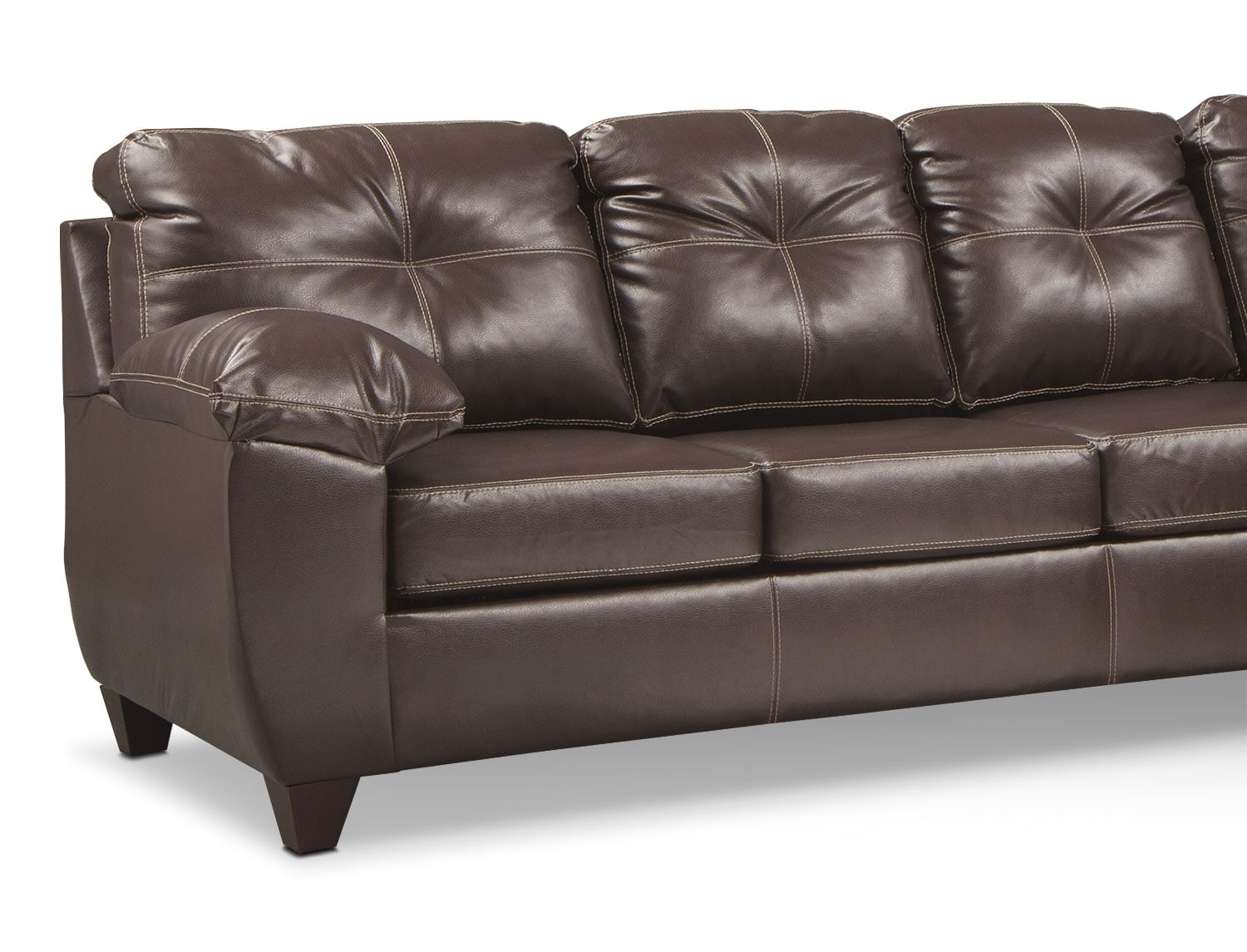 Ricardo 2 piece memory foam sleeper sectional with right for Brown sectionals with chaise