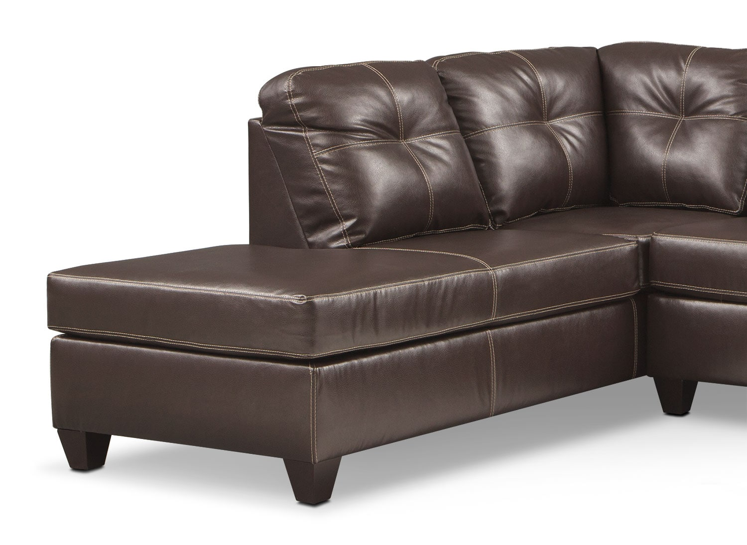 Ricardo 2 piece memory foam sleeper sectional with left for Brown sectionals with chaise