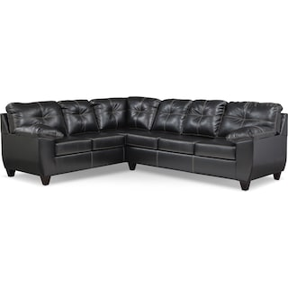 Ricardo 2-Piece Memory Foam Sleeper Sectional with Left-Facing Sofa - Onyx