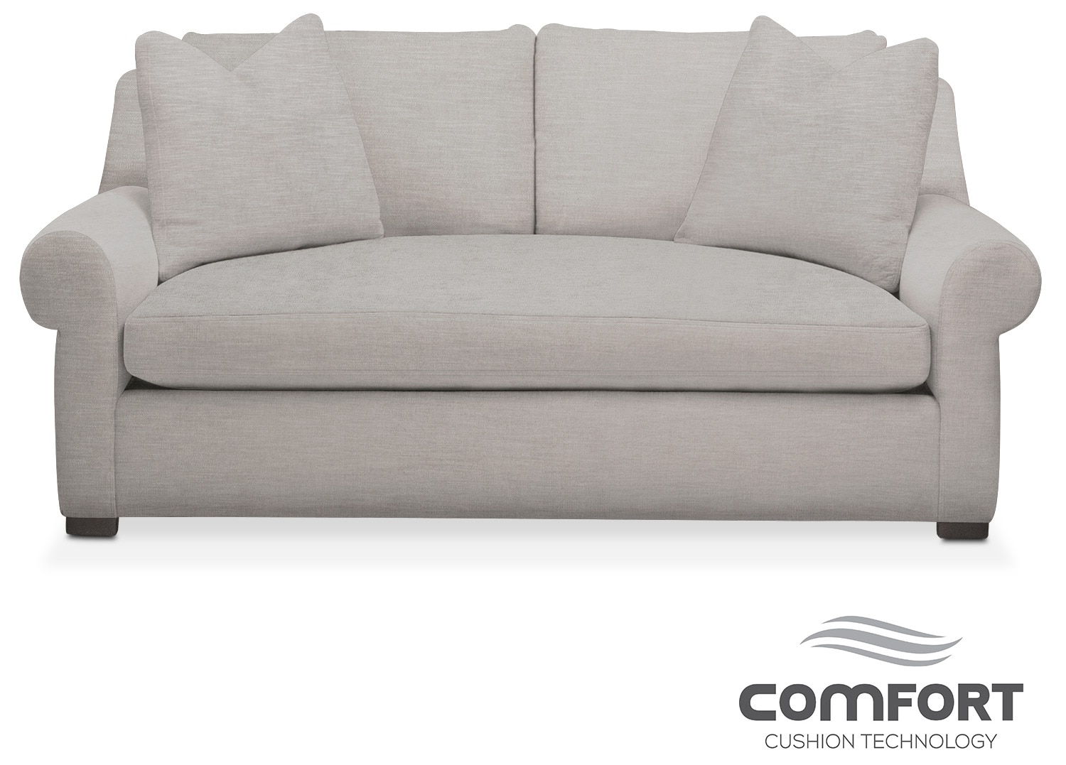 Living Room Furniture - Asher Comfort Apartment Sofa - Dudley Gray