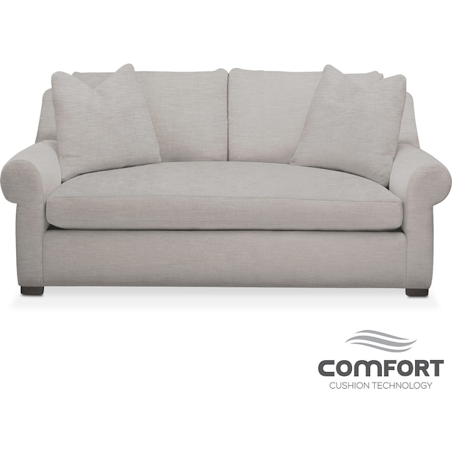 Living Room Furniture - Asher Comfort Apartment Sofa - Gray