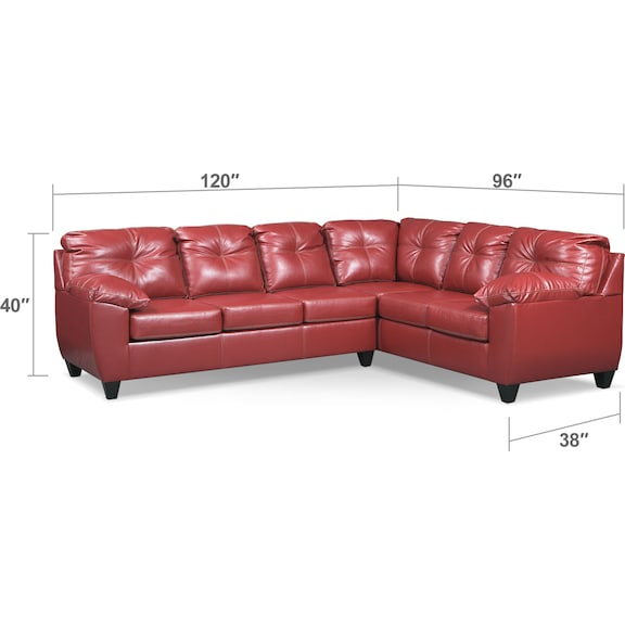 Living Room Furniture - Ricardo 2-Piece Sleeper Sectional with Sofa