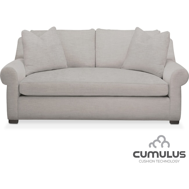 Living Room Furniture - Asher Cumulus Apartment Sofa - Gray