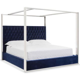 Presley King Canopy Bed - Blue