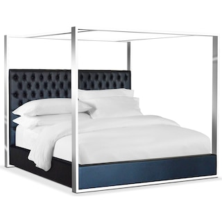 Presley King Canopy Bed - Black