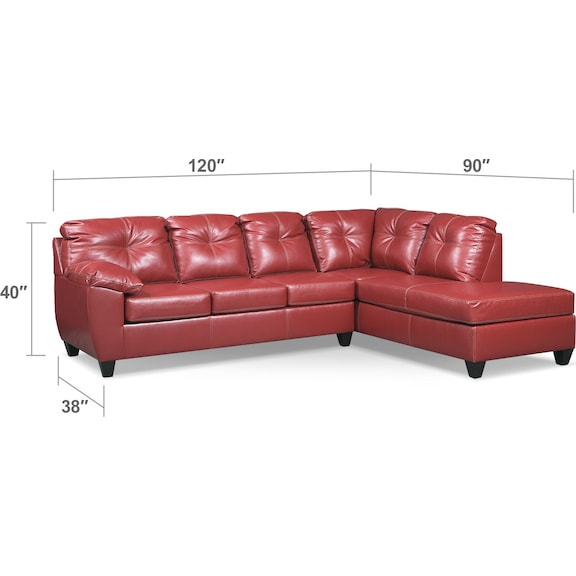 Ricardo 2 piece innerspring sleeper sectional with right for Andrea 2 piece sleeper chaise