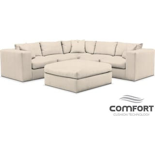 Collin Comfort 6-Piece Sectional - Pearl