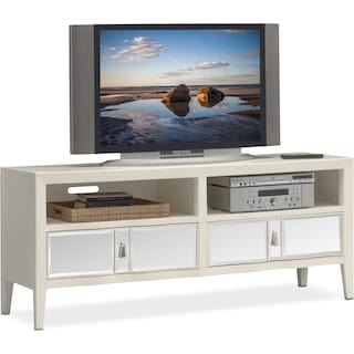 "Bellagio 66"" TV Stand - White"