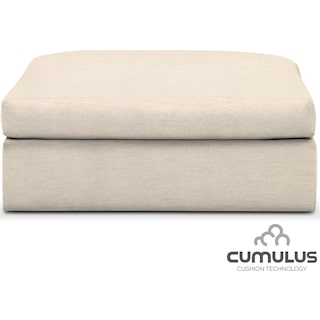 Collin Cumulus Ottoman - Curious Pearl