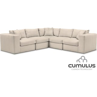 Collin Cumulus 5-Piece Sectional - Pearl
