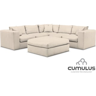 Collin Cumulus 6-Piece Sectional - Pearl