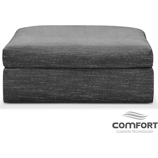 Collin Comfort Ottoman - Curious Charcoal