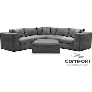 Collin Comfort 6-Piece Sectional - Gray