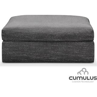 Collin Cumulus Ottoman - Curious Charcoal