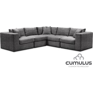 Collin Cumulus 5-Piece Sectional - Gray