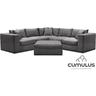 Collin Cumulus 6-Piece Sectional - Curious Charcoal
