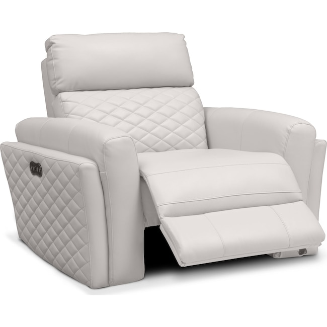 Living Room Furniture - Catalina Power Recliner - Ivory