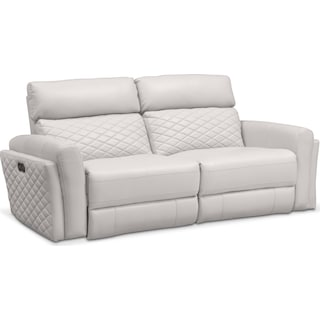 Catalina 2-Piece Power Reclining Sofa - Ivory