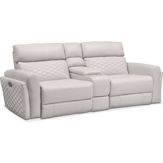 Catalina 3-Piece Power Reclining Sofa with Console - Ivory