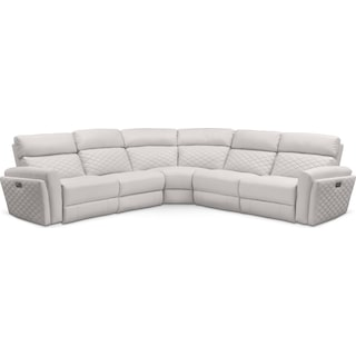 Catalina 5-Piece Power Reclining Sectional with 3 Reclining Seats - Ivory