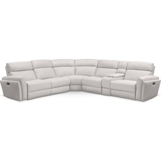 Catalina 6-Piece Power Reclining Sectional with 2 Reclining Seats - Ivory