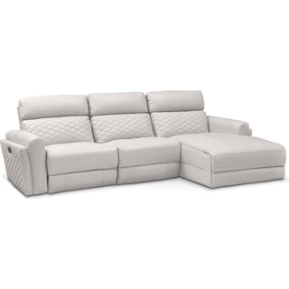 Catalina 3-Piece Power Reclining Sectional with Right-Facing Chaise - Ivory
