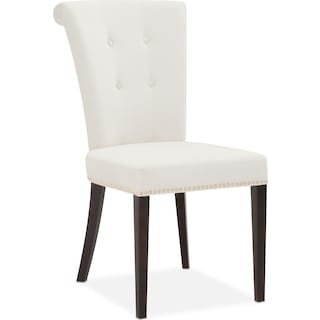 Calloway Side Chair - Ivory/Gold