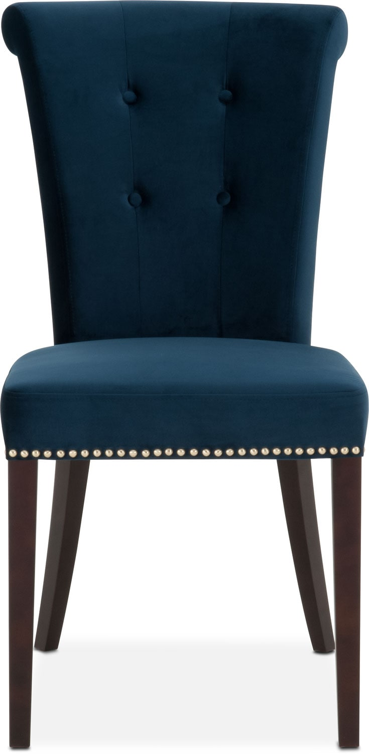 Calloway Side Chair Navy Gold American Signature Furniture