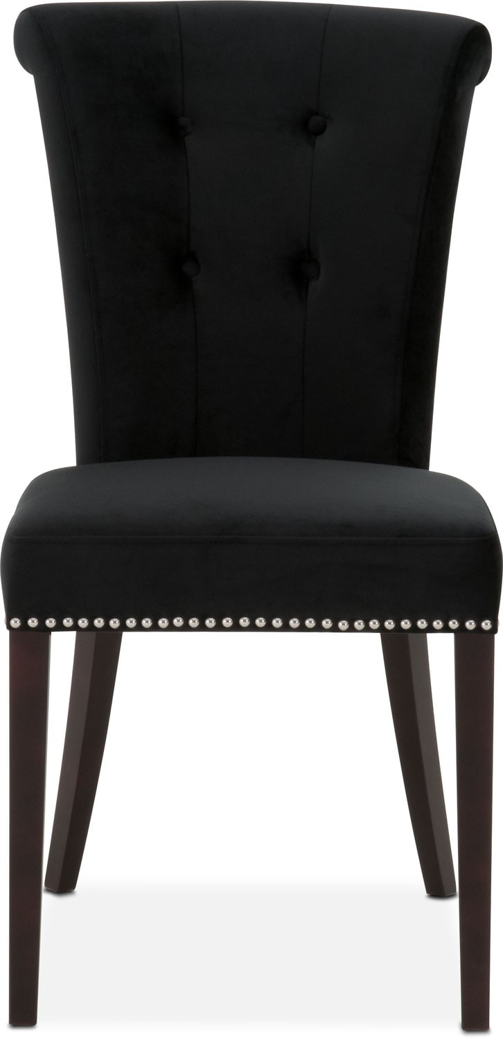 Calloway Side Chair Black Silver American Signature