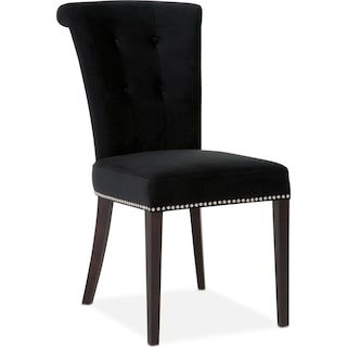 Calloway Side Chair - Black/Silver