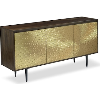 Sunburst Sideboard - Brass