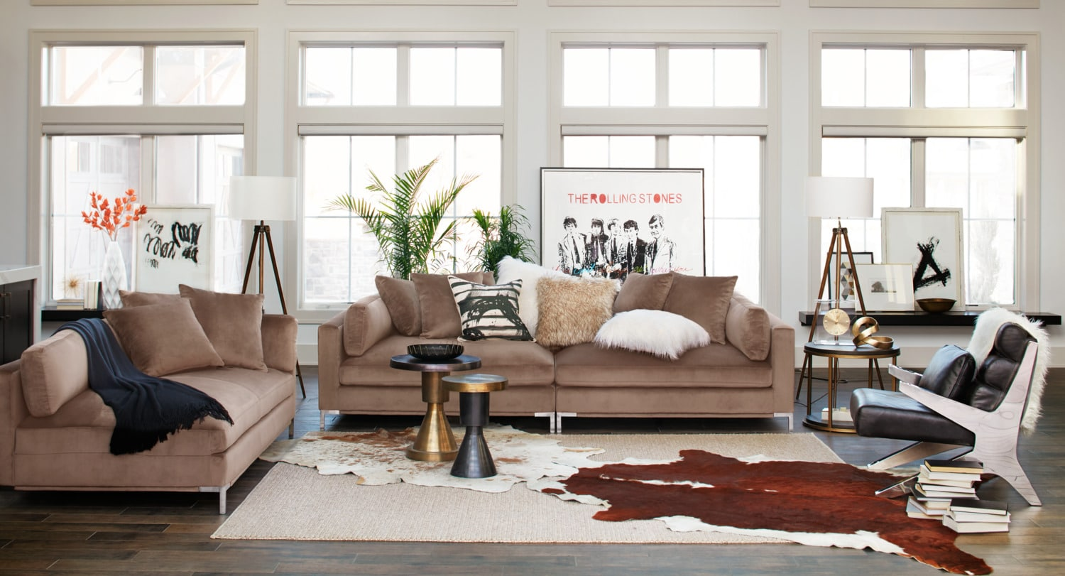 The Moda Collection - Mushroom : american signature furniture sectionals - Sectionals, Sofas & Couches