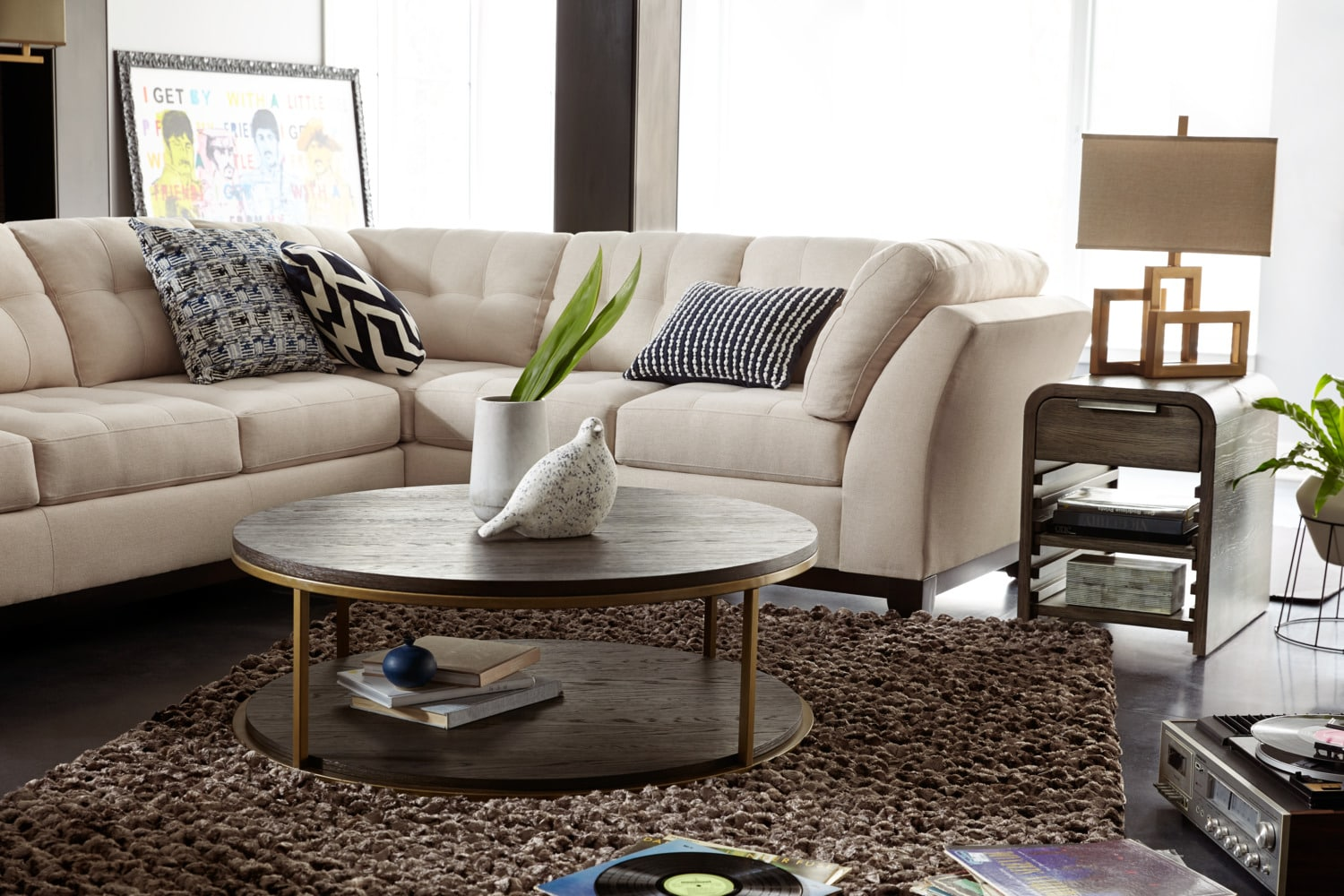 Sebring 2 Piece Sectional With Left Facing Sofa Oyster