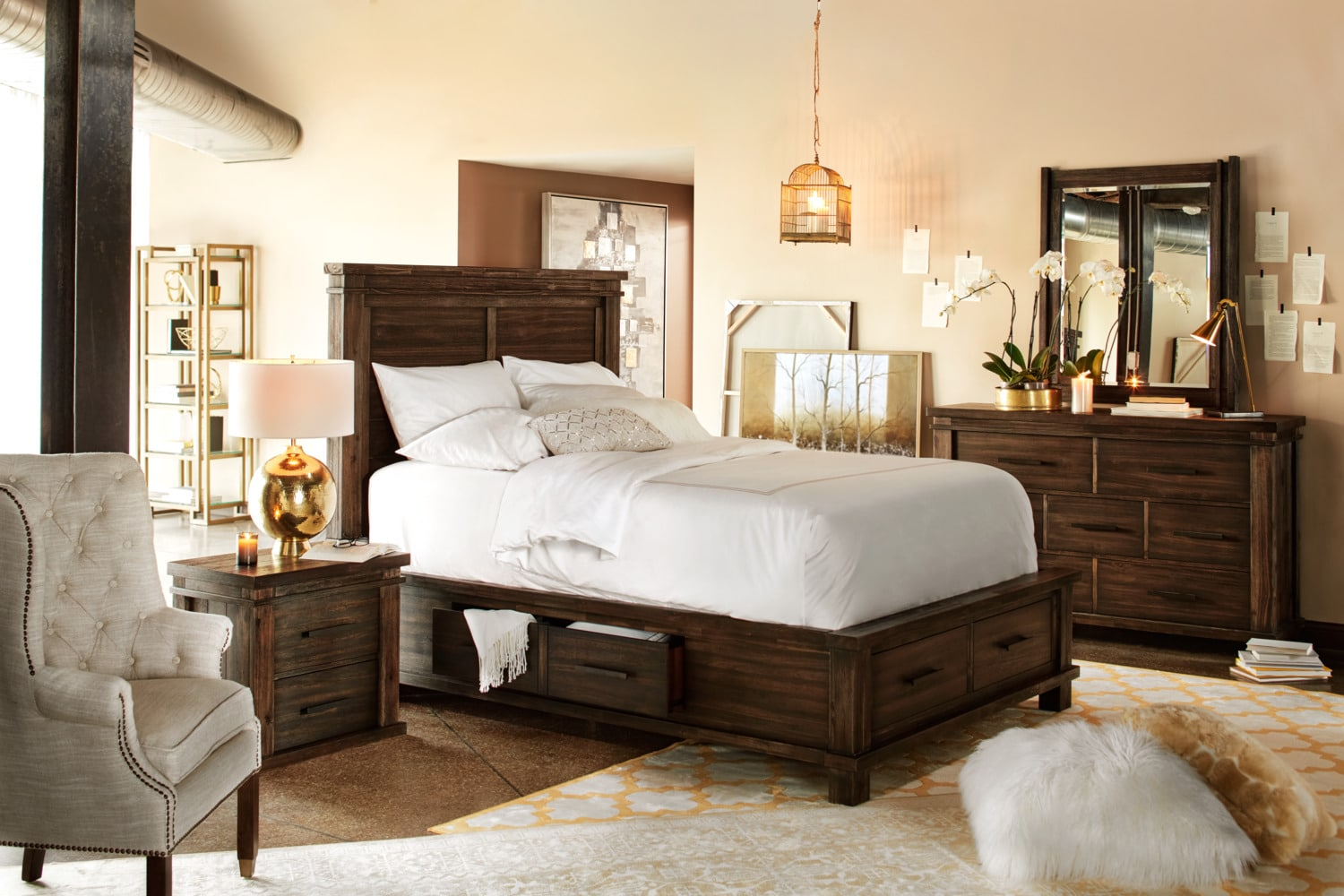 The Tribeca Storage Bedroom Collection - Tobacco