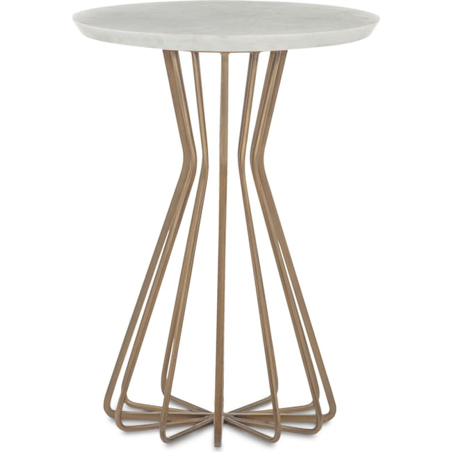 Accent and Occasional Furniture - Perimeter Side Table - Brass