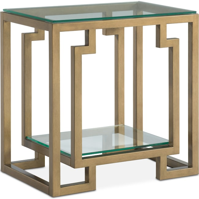 Accent and Occasional Furniture - Lynx Side Table - Brass