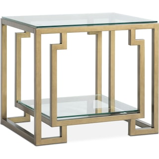 Lynx End Table - Brass