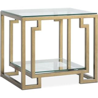 Lynx End Table - Brass