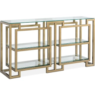 Lynx Sofa Table - Brass