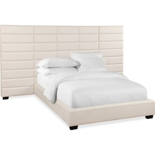 Bellamy Queen Upholstered Wall Bed - White