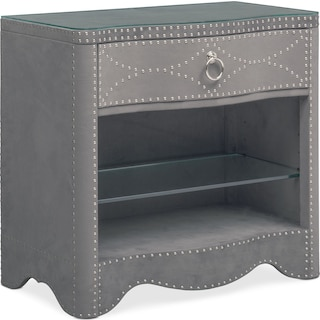 Lourdes Nightstand - Gray