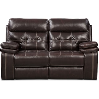 Brisco Loveseat - Brown