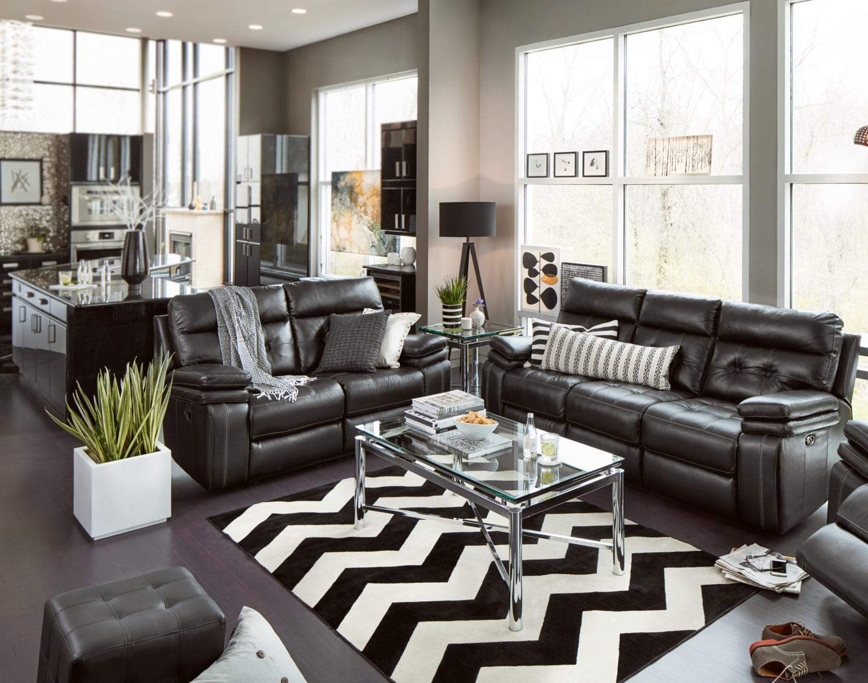 Brisco Sofa And Loveseat Set Black American Signature Furniture ~ Black Sofa And Loveseat Set