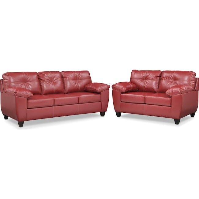 Living Room Furniture - Ricardo Queen Innerspring Sleeper Sofa and Loveseat Set